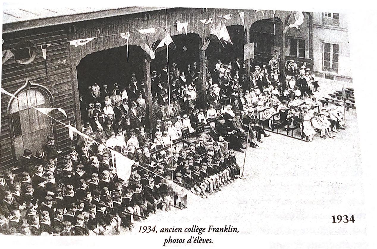 Photo d'élèves de la chapelle en 1934